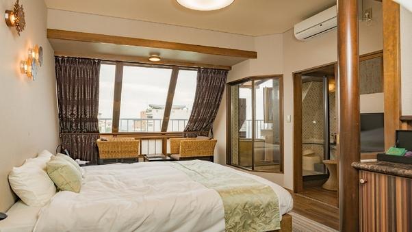 海が見えるキングベッドの露天風呂付「アジアンテイスト」禁煙