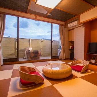 海が見える和室10畳・露天風呂付き「アジアンテイスト」禁煙