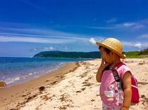 千代の泣き砂の浜