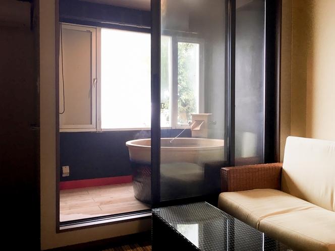 【ツインデラックス】半露天風呂付客室