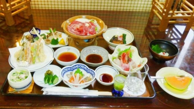 グレードアップの夕食プラン「竹コース・1泊2食付」