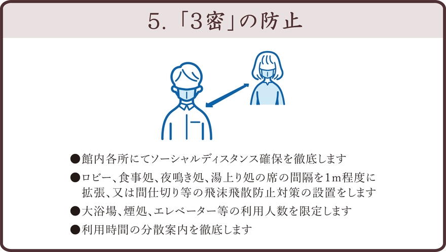 新型コロナ感染防止対策6つの取り組み