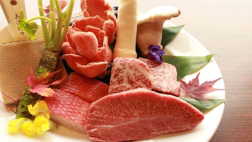 【夕食】グレードアップ:鉄板焼きコース