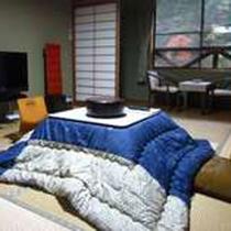 こたつのお部屋でゆったりお寛ぎください。。