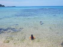 遠浅の八丁浜小浜海水浴場