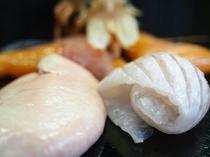 天然ヒラメのエンガワ&肝&卵
