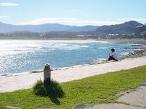 海を眺めて「八丁浜」