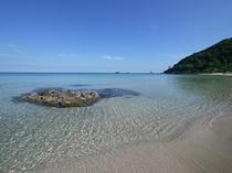 徒歩2~3分!八丁浜小浜海水浴場