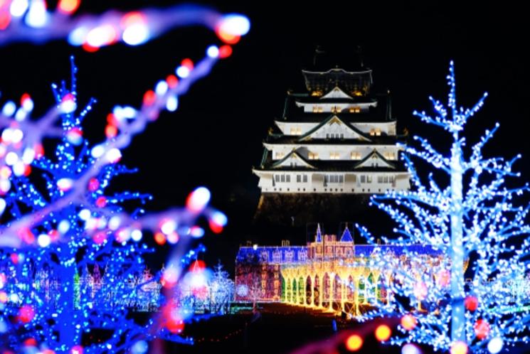 大阪城 冬休みシーズン