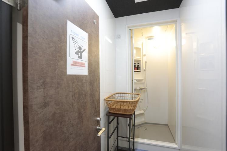 個室シャワールーム(24時間無料)