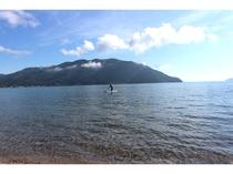 サップ&琵琶湖