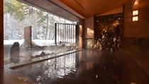 冬の河神の湯