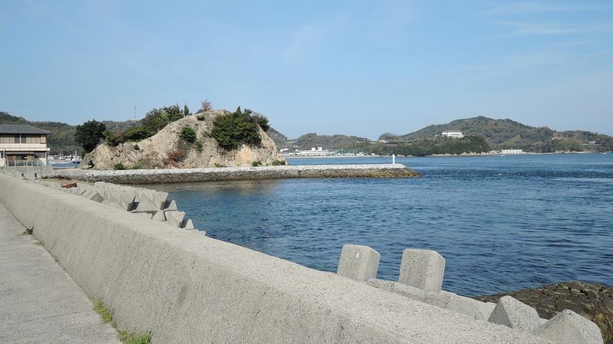 *当館からの景色。海を眺めてのんびりお過ごし下さい