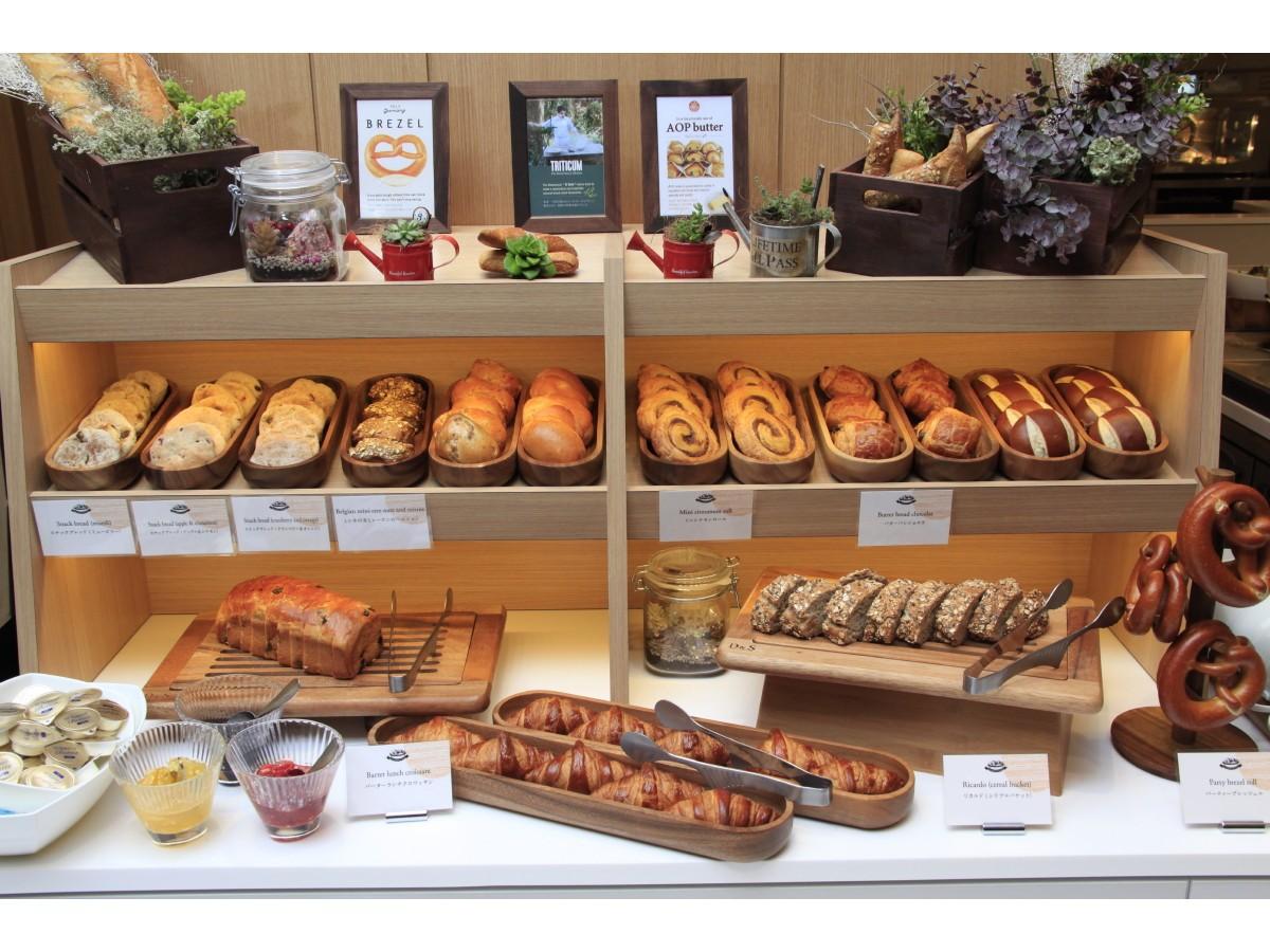 【朝食ビュッフェ】焼きたてパン種類豊富(個包装)