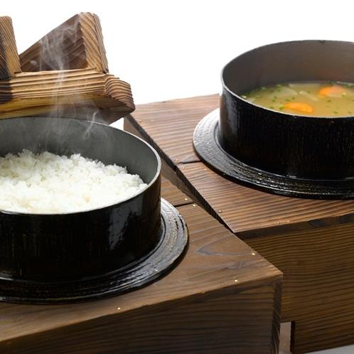【朝食ビュッフェ】炊きたてごはん