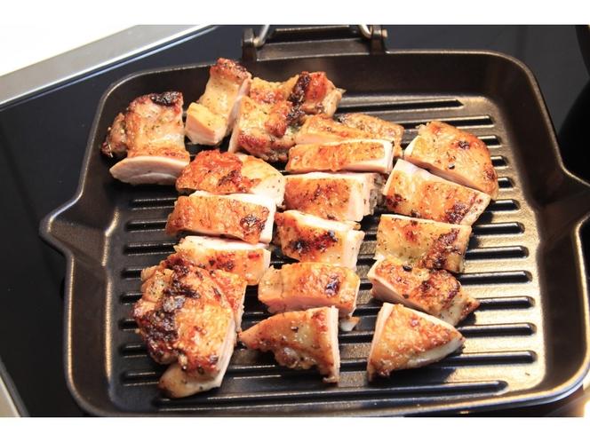 【朝食ビュッフェ】チキンのグリル