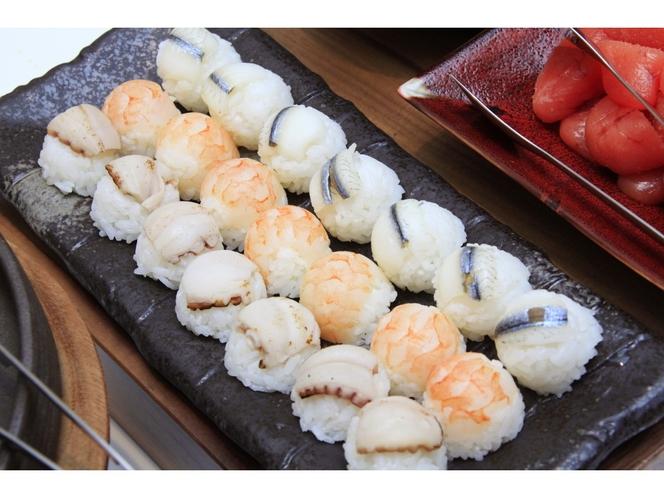【朝食ビュッフェ】手まり寿司