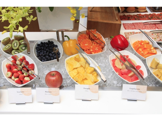 【朝食ビュッフェ】果物もたくさんご用意♪
