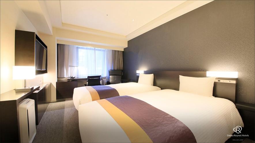 ◆スタンダードツイン(23㎡・ベッド110x195)