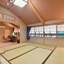 *【和洋室スイート/2階】和室8畳と洋間8畳がつながった2階のお部屋です。
