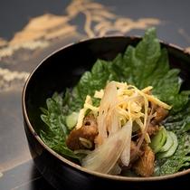 *【ご夕食】石州穴子を使用した『穴子ざく』でござます。