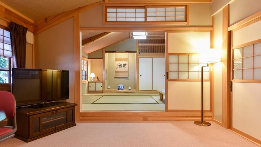 *【和洋室スイート/2階】畳の香りにほっと一息。