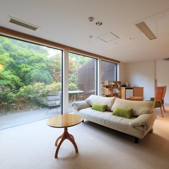 広さゆったり70平米!【モダン和洋室】内風呂&露天風呂付き