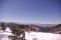 峰の原高原サンセットテラスからの北アルプス風景
