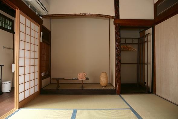 和室1〜3人部屋(個室、和室6畳と縁側。トイレ、シャワー共用)