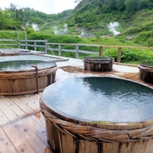 【混浴】野天風呂(熊の湯)樽風呂