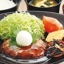 *【朝食一例】和風ハンバーグ朝食