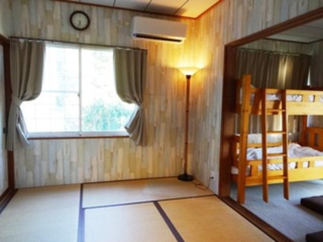 【キッチン・ウッドデッキ付2DKのお部屋】寝室①
