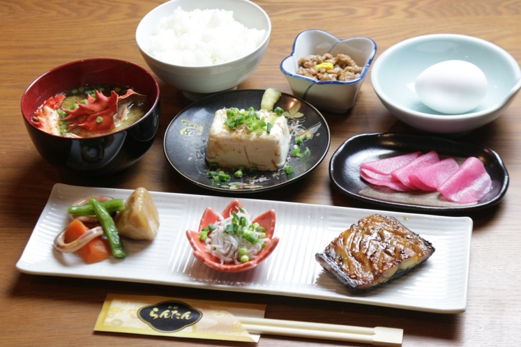 【朝食】和食でご用意致します。
