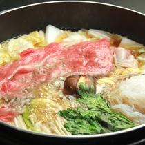 メインは福島牛のすき焼き!