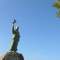 【天草の風景】青空と天草四郎像