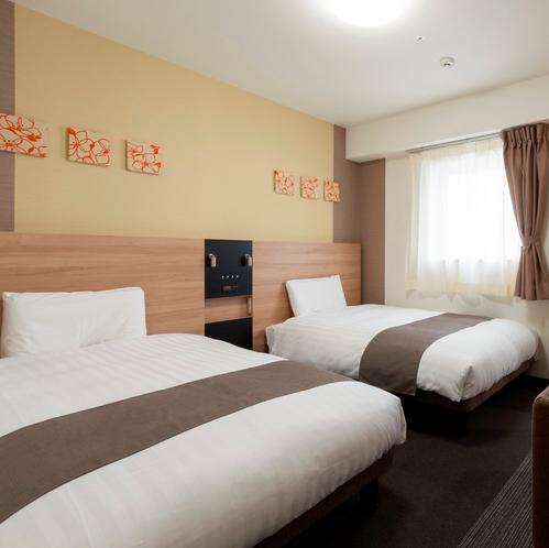 ◆ツインエコノミー◆ベッド幅123センチ◆広さ17.5平米◆