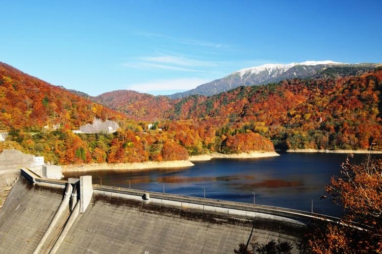 有峰ダムの紅葉
