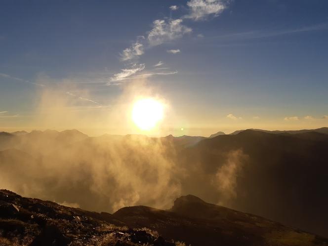 薬師岳山頂からの御来光