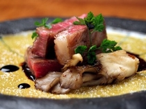 【お肉料理一例】和牛サーロインのポワレ