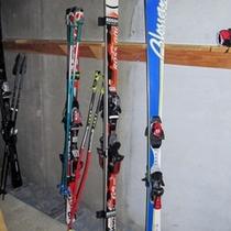 スキー・ボード置き場