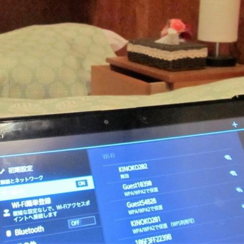 全室専用WiFiあります