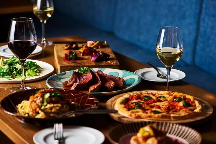 肉とチーズとパスタとワインを堪能!