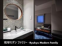 琉球モダンファミリー-洗面-