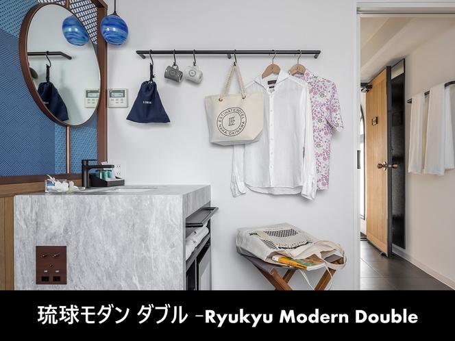 琉球モダンダブル-室内洗面台-
