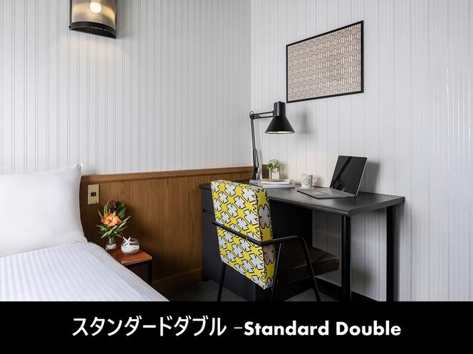 スタンダードダブルルーム-客室内-