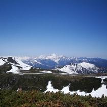 【乗鞍岳からの景色】息を呑む景観がそこに広がります。