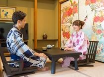 【和洋室】客室露天の陶器と檜は指定いただけません。ご了承くださいませ。