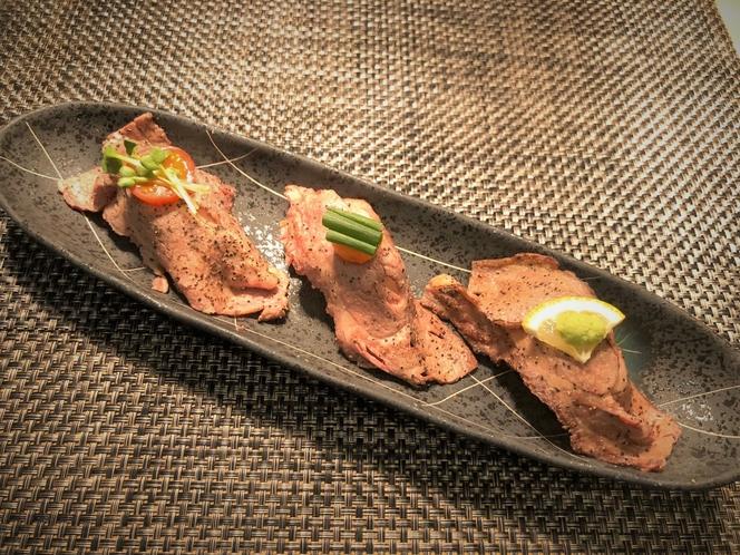 【特別料理】和牛の炙り寿司3貫