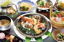 秋の味覚を満喫♪松茸と鮑の宝楽焼き会席