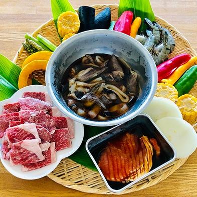 《1日2組限定》夕食は自然の中みんなでわいわい島食材バーベキュー!【2食付き】